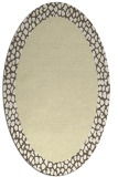 rug #1046558 | oval plain white rug