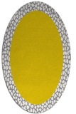 rug #1046562 | oval yellow borders rug