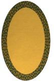 rug #1046566 | oval plain light-orange rug
