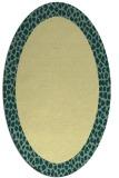 rug #1046570 | oval yellow animal rug