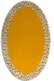 rug #1046590 | oval light-orange animal rug
