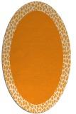 rug #1046598 | oval light-orange borders rug
