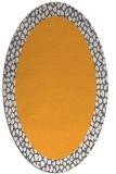 rug #1046602 | oval plain light-orange rug