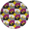 rug #104661 | round yellow popular rug