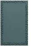 rug #1046682 |  plain blue-green rug