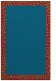 rug #1046730 |  plain blue-green rug
