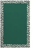 rug #1046742 |  blue-green animal rug
