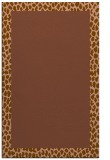 rug #1046754 |  plain mid-brown rug