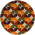 rug #104677 | round orange rug