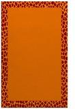 rug #1046810 |  plain orange rug