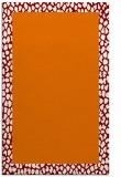 rug #1046814 |  plain orange rug