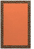 rug #1046822 |  plain red-orange rug