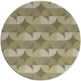 rug #104685 | round light-green natural rug