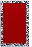 rug #1046858 |  plain red rug