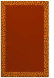 rug #1046874 |  plain red-orange rug