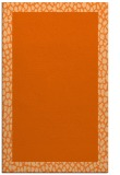 rug #1046878 |  plain red-orange rug