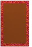 rug #1046882 |  plain red-orange rug