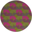 rug #104689 | round light-green rug