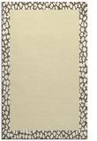 rug #1046926 |  plain yellow rug