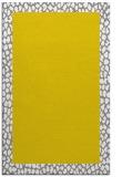 rug #1046930 |  plain yellow rug