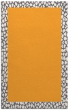 rug #1046970 |  plain light-orange rug