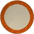 rug #1046974 | round beige borders rug