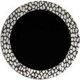 rug #1046978 | round plain white rug