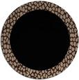 rug #1046986 | round plain black rug