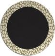 rug #1046998   round plain black rug