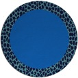 rug #1047006 | round blue animal rug