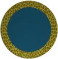 rug #1047054   round plain green rug