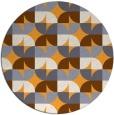 rug #104709 | round light-orange natural rug