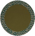 rug #1047090 | round plain mid-brown rug