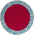 rug #1047094 | round red borders rug