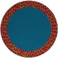 rug #1047098   round blue-green borders rug