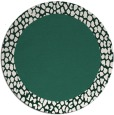 rug #1047110 | round blue-green animal rug