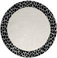 rug #1047118 | round plain black rug