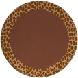 rug #1047122 | round plain mid-brown rug