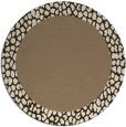 rug #1047130 | round plain beige rug