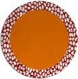 rug #1047182 | round plain orange rug