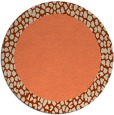 rug #1047186 | round plain orange rug