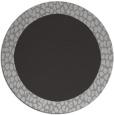 rug #1047190 | round plain orange rug