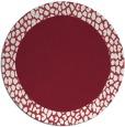 rug #1047198 | round pink rug