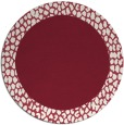 rug #1047198 | round plain pink rug