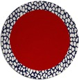 rug #1047226 | round red animal rug
