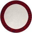 rug #1047227 | round plain rug