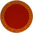 rug #1047230 | round red borders rug