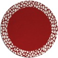 rug #1047234 | round plain red rug