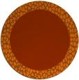 rug #1047242 | round red-orange borders rug