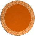 rug #1047246 | round red-orange borders rug